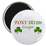 "Foxy Irish Cougar 2.25"" Magnet (10 pack)"