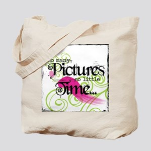 So many pictures, so little t Tote Bag