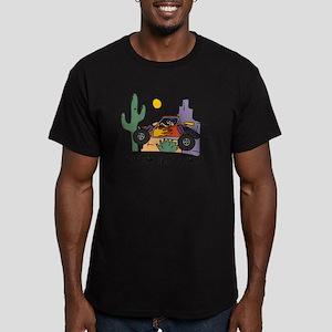 Fidget Desert Racer Men's Fitted T-Shirt (dark)