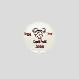 Happ GNU Year 2006 Mini Button