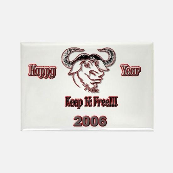 Happ GNU Year 2006 Rectangle Magnet