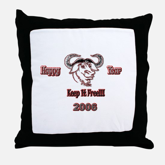Happ GNU Year 2006 Throw Pillow