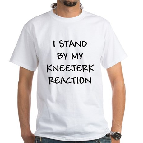 Kneejerk Reaction White T-Shirt