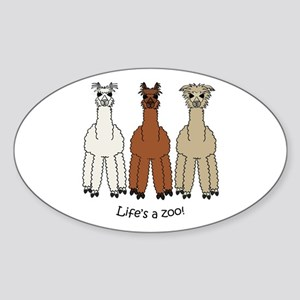 Alpaca Sticker (Oval)