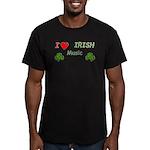Love Irish Music Men's Fitted T-Shirt (dark)