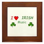 Love Irish Music Framed Tile