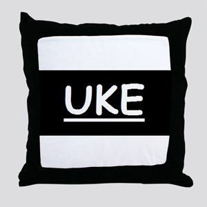 Uke Throw Pillow