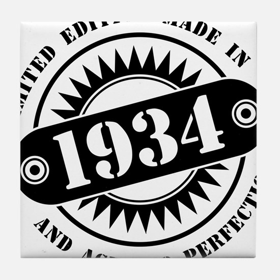 LIMITED EDITION MADE IN 1934 Tile Coaster