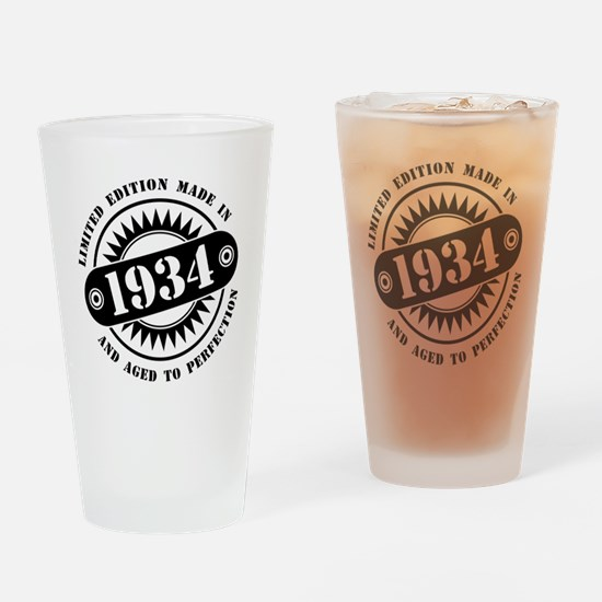 LIMITED EDITION MADE IN 1934 Drinking Glass