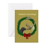Black Labrador & Reindeer 2 Christmas Cards (10)