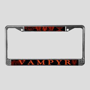 Vampyr Crest Red License Plate Frame
