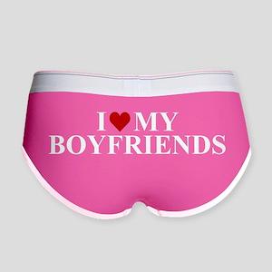 I Love My Boyfriends (heart) Women's Boy Brief