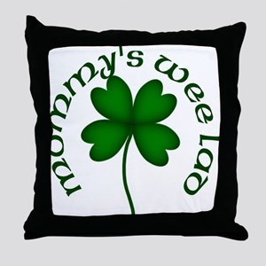 Mommy's Wee Lad Throw Pillow