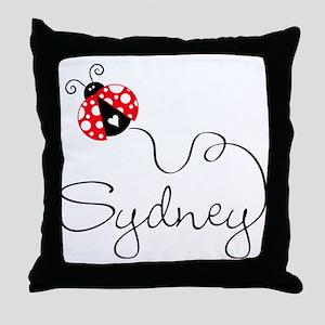 Ladybug Sydney Throw Pillow