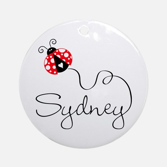 Ladybug Sydney Ornament (Round)
