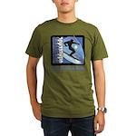 Skier Challenge Organic Men's T-Shirt (dark)