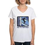 Skier Challenge Women's V-Neck T-Shirt