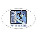 Skier Challenge Oval Sticker