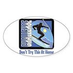 Skier Challenge Oval Sticker (50 pk)