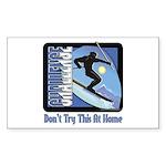 Skier Challenge Rectangle Sticker 10 pk)