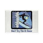 Skier Challenge Rectangle Magnet (10 pack)
