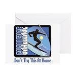 Skier Challenge Greeting Card