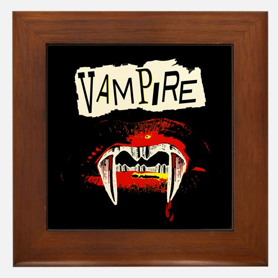 Vampire Punk Framed Tile