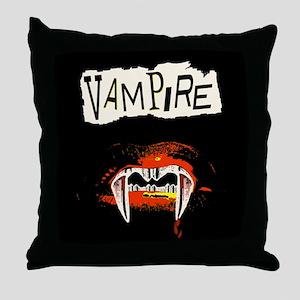 Vampire Punk Throw Pillow