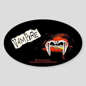 Vampire Punk Sticker (Oval)