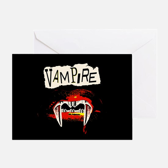 Vampire Punk Greeting Card