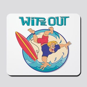 Wipe Out Surfer Mousepad