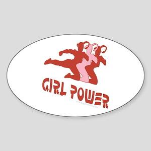 Girl Power Oval Sticker