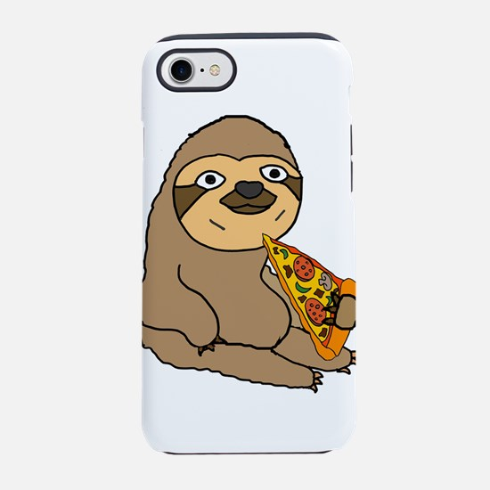 Funny Sloth Eating Pizza iPhone 7 Tough Case