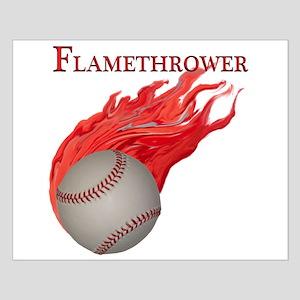 Flamethrower Baseball Small Poster