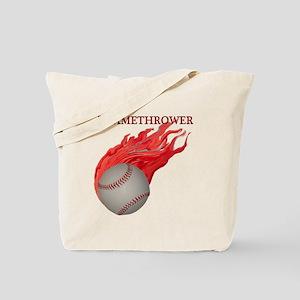 Flamethrower Baseball Tote Bag