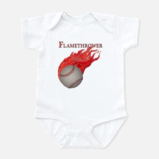 Flamethrower Baseball Infant Bodysuit
