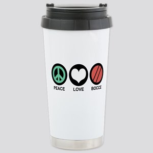 Peace Love Bocce Stainless Steel Travel Mug