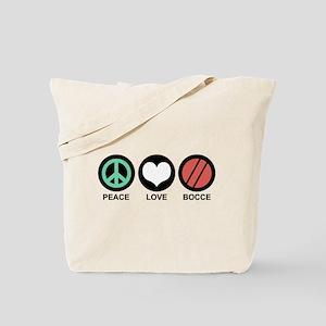 Peace Love Bocce Tote Bag