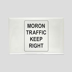 Moron Traffic Rectangle Magnet