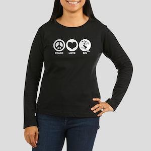 Peace Love Ski (female) Women's Long Sleeve Dark T