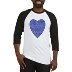 Blue Heart Baseball Jersey