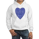 Blue Heart Hooded Sweatshirt