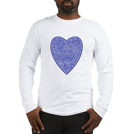 Blue Heart Long Sleeve T-Shirt