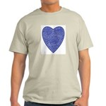 Blue Heart Ash Grey T-Shirt