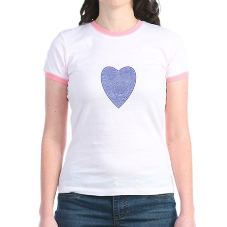 Blue Heart Jr. Ringer T-Shirt