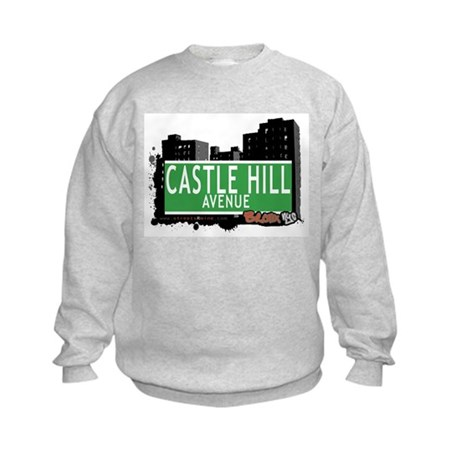 Castle Hill Av, Bronx, NYC Kids Sweatshirt