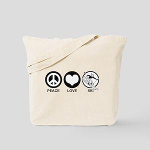 Peace Love Ski (male) Tote Bag