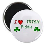 "Love Irish Fiddle 2.25"" Magnet (10 pack)"