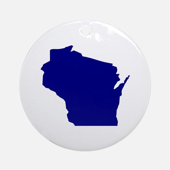 Wisconsin Ornament (Round)