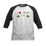 Love Irish Folk Kids Baseball Jersey